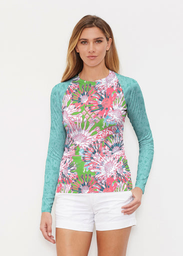Floral Awakening (7599) ~ Long Sleeve Rash Guard