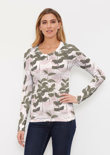 On Pink (7606) ~ Thermal Long Sleeve Crew Shirt