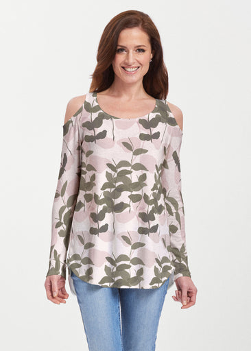 On Pink (7606) ~ Butterknit Cold Shoulder Tunic