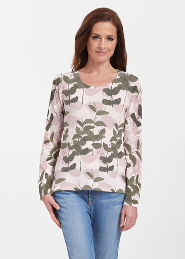 On Pink (7606) ~ Texture Mix Long Sleeve