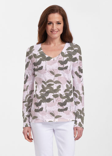 On Pink (7606) ~ Thermal Long Sleeve V-Neck Shirt