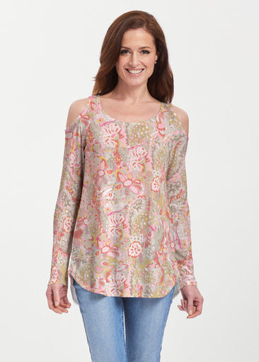 Bohemian Pink (7608) ~ Butterknit Cold Shoulder Tunic