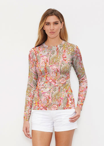 Bohemian Pink (7608) ~ Long Sleeve Rash Guard