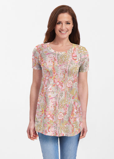 Bohemian Pink (7608) ~ Butterknit Short Sleeve Tunic