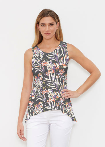 Tropic Palms Black (7611) ~ Signature High-low Tank