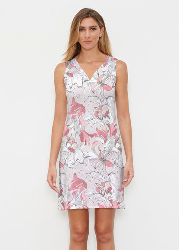Pen and Ink Lily Beige (7612) ~ Classic Sleeveless Dress