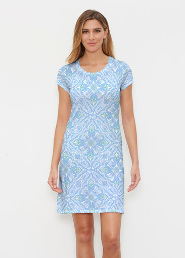 Ceramic Tiles Aqua (7615) ~ Classic Crew Dress