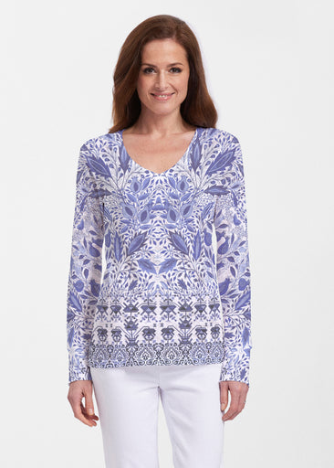 Inzik Blue (7616) ~ Thermal Long Sleeve V-Neck Shirt