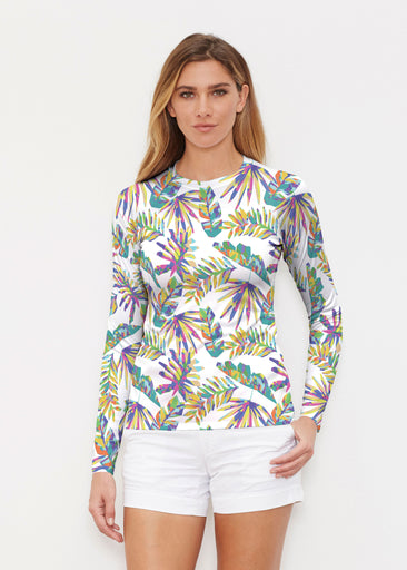 Flat Tropical Multi (7617) ~ Long Sleeve Rash Guard