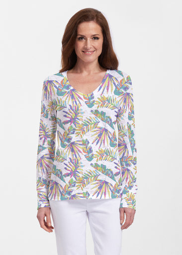 Flat Tropical Multi (7617) ~ Thermal Long Sleeve V-Neck Shirt