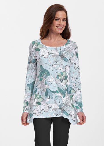Pen and Ink Lily Seafoam (7621) ~ Abigail Thermal Tunic