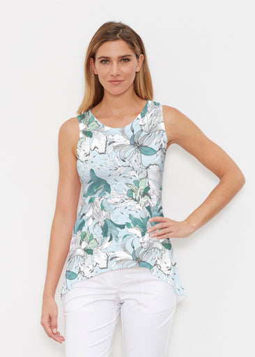 Pen and Ink Lily Seafoam (7621) ~ Signature High-low Tank