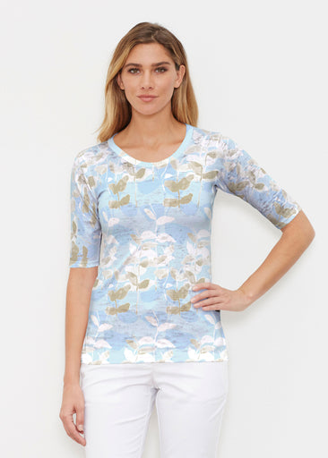 On Blue (7622) ~ Signature Elbow Sleeve Crew Shirt