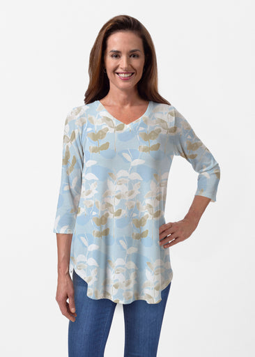 On Blue (7622) ~ Butterknit V-neck Flowy Tunic