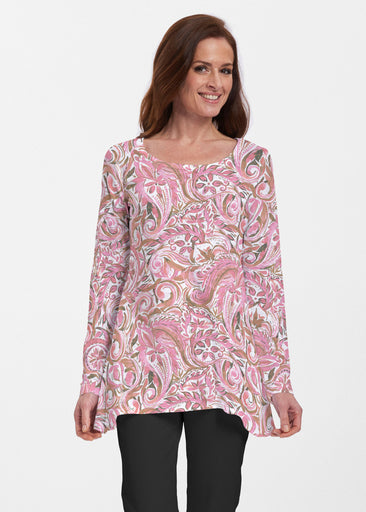 Handpainted Paisley Pink (7624) ~ Abigail Thermal Tunic