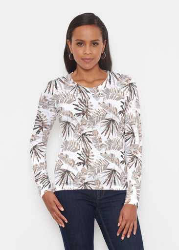 Flat Tropical Neutral (7625) ~ Signature Long Sleeve Crew Shirt