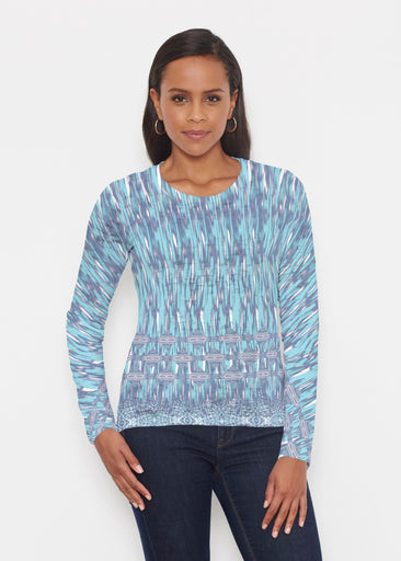Spirited Aqua (7628) ~ Signature Long Sleeve Crew Shirt