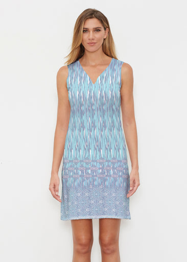 Spirited Aqua (7628) ~ Classic Sleeveless Dress