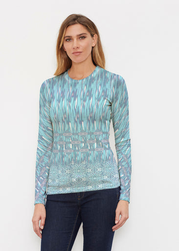 Spirited Aqua (7628) ~ Butterknit Long Sleeve Crew Top