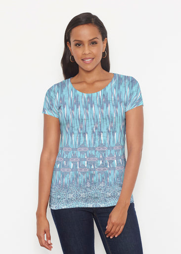 Spirited Aqua (7628) ~ Short Sleeve Scoop Shirt
