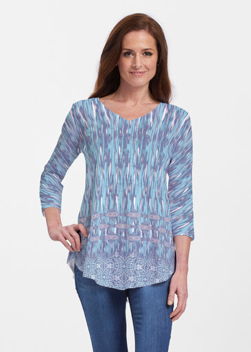 Spirited Aqua (7628) ~ V-neck Flowy Tunic