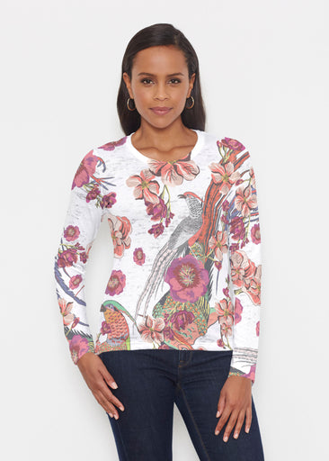 Mandarin Bird (7646) ~ Signature Long Sleeve Crew Shirt