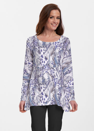 Abstract Leopard (7647) ~ Abigail Thermal Tunic