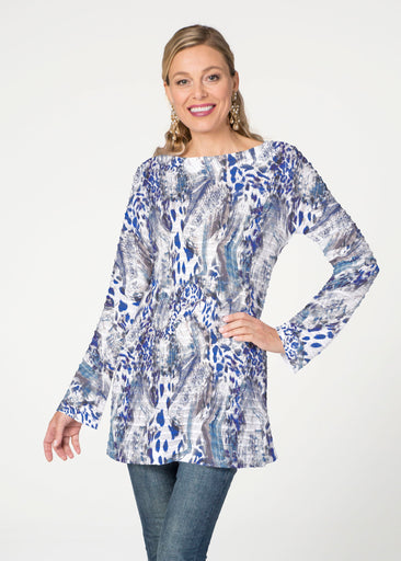 Abstract Leopard (7647) ~ Banded Boatneck Tunic