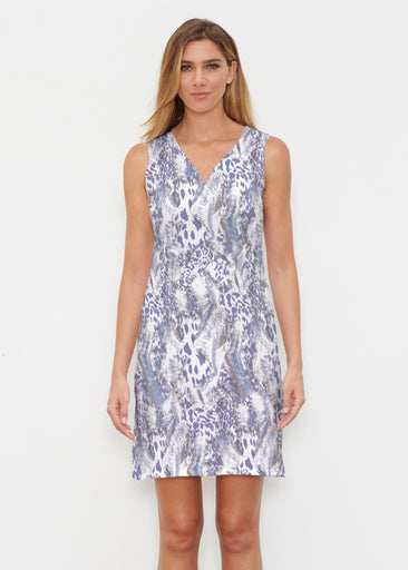 Abstract Leopard (7647) ~ Classic Sleeveless Dress