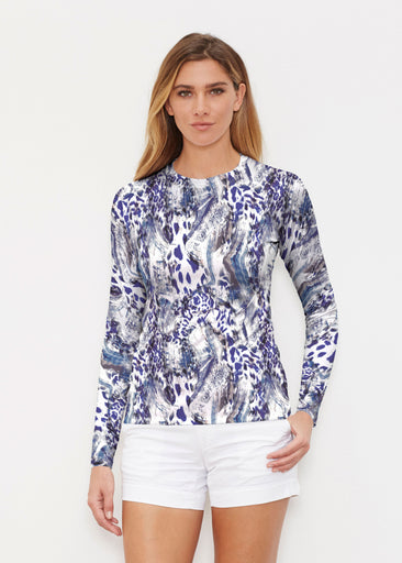 Abstract Leopard (7647) ~ Long Sleeve Rash Guard