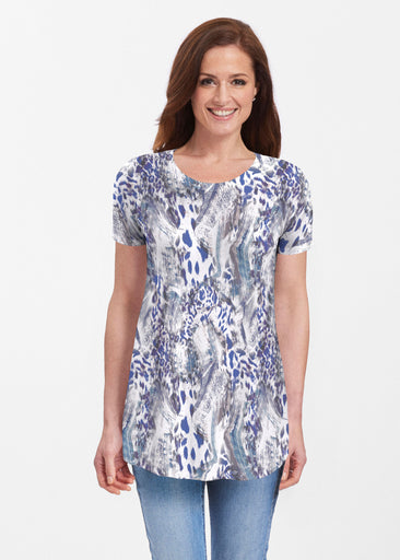 Abstract Leopard (7647) ~ Butterknit Short Sleeve Tunic