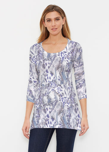 Abstract Leopard (7647) ~ Buttersoft 3/4 Sleeve Tunic