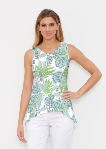 Abstract Rose Garden (7648) ~ High-low Tank