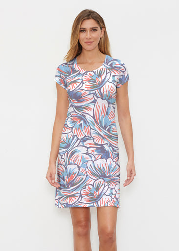 Floral Brush Marks (7649) ~ Classic Crew Dress