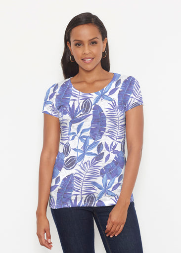 Painted Tropics Blue (7650) ~ Short Sleeve Scoop Shirt