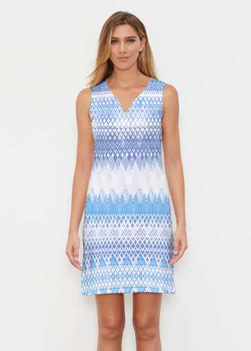 Echo Blue (7657) ~ Classic Sleeveless Dress