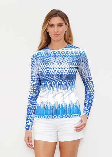 Echo Blue (7657) ~ Long Sleeve Rash Guard