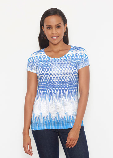 Echo Blue (7657) ~ Short Sleeve Scoop Shirt