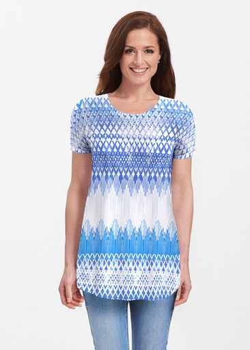 Echo Blue (7657) ~ Butterknit Short Sleeve Tunic