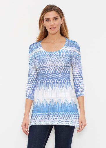 Echo Blue (7657) ~ Buttersoft 3/4 Sleeve Tunic