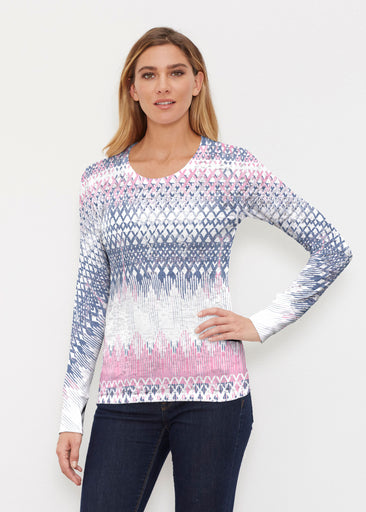 Echo Pink (7658) ~ Thermal Long Sleeve Crew Shirt