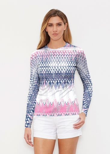 Echo Pink (7658) ~ Long Sleeve Rash Guard