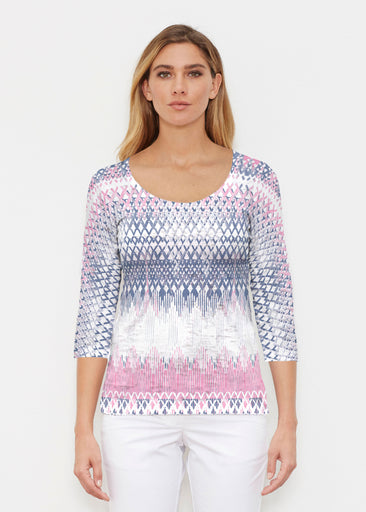 Echo Pink (7658) ~ Signature 3/4 Sleeve Scoop Shirt