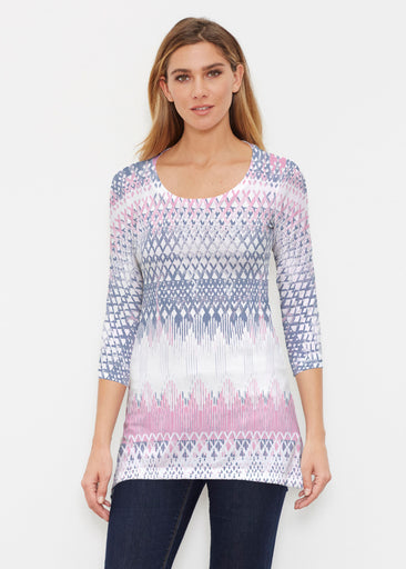 Echo Pink (7658) ~ Buttersoft 3/4 Sleeve Tunic