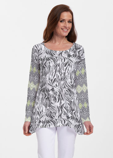 Watercolor Zebra (7664) ~ Abigail Thermal Tunic