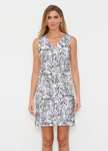 Watercolor Zebra (7664) ~ Classic Sleeveless Dress