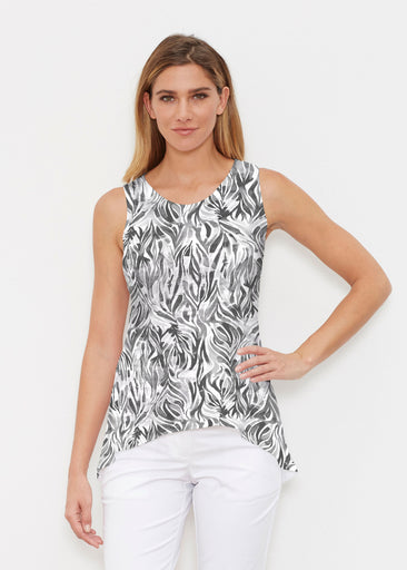 Watercolor Zebra (7664) ~ High-low Tank