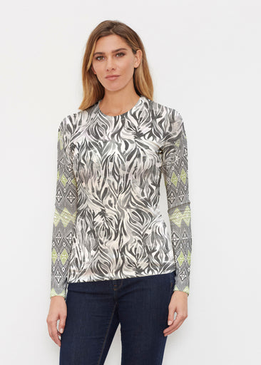 Watercolor Zebra (7664) ~ Butterknit Long Sleeve Crew Top