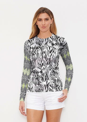 Watercolor Zebra (7664) ~ Long Sleeve Rash Guard