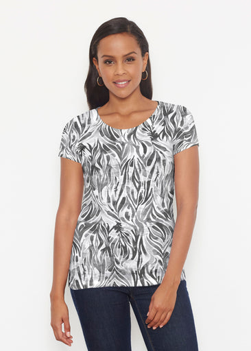 Watercolor Zebra (7664) ~ Short Sleeve Scoop Shirt